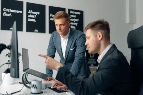 Marvin Flenche und Alexander Thieme vonA&M Unternehmerberatung GmbH