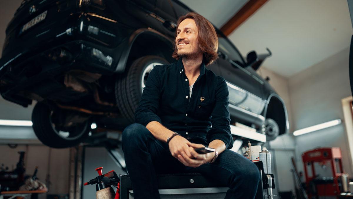 Robert Merz von den KFZ-Rockstars